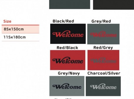 Welcome Mat Colour & size range (1)