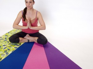 Yoga Floor Mat includes bag and strap